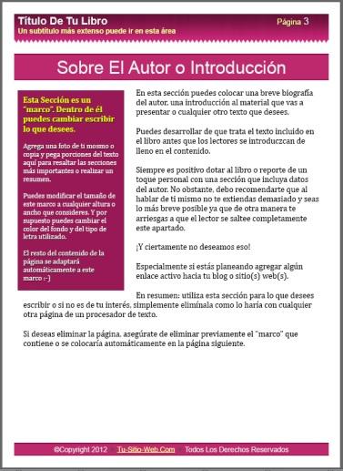 Plantillas EZ Ebook 2012